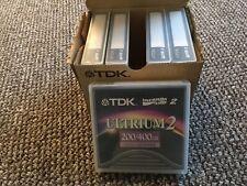 5 X TDK D2405-LTO2 ULTRIUM 2 200/400GB DATA CARTRIDGE BRAND NEW BOXED