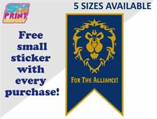 World Of Warcraft ALLIANCE Banner Sticker Choose From 5 Different Sizes Sign