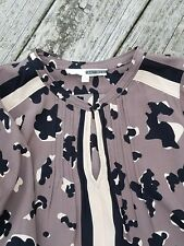 Tracy Reese Silk Tunic Dress Size S Brown and Black Animal Print - Tan Contrast
