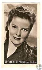 Katharine Hepburn Vintage 1950 Kwatta Movie Star Collector Card B