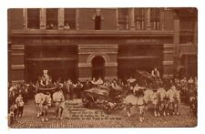 CINCINNATI, OH, FIRE DEPT HEADQUARTERS, MEN & HORSE DRAWN EQUIPMENT, used 1909