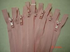 HUGE*LOT OF*5**PINK.ZIPPERS*BIG NYLON TEETH 13-14 in