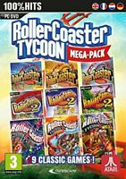 RollerCoaster Tycoon Mega-Pack with 9 Classic Games for Windows 10 8 7 XP 2000