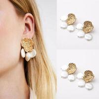 Elegant Bohemian 1 Pair Fashion Jewelry Women Lady Pearl Dangle Stud Earrings
