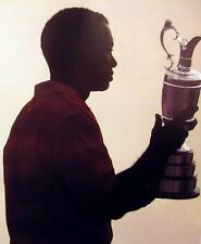 TIGER WOODS silhouette Claret Jug clipping 2006 color photo British Open