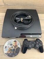 10 Games! Sony Playstation 3 PS3 CECH-2101a Slim Console Bundle 120GB GTA 4!