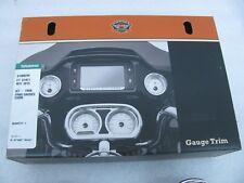 New Harley Davidson Chrome Road Glide Fairing Trim Gauge Bezel Kit 61400299