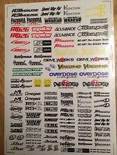 RC DRIFT JDM CAR COLOR N4 Sticker Label Yokomo MST HPI Tamiya Overdose