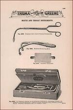 MOUTH & THROAT INSTRUMENTS, Medical, Mouth Gag, Intubating, catalog pg 1893