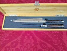 Shun Japan Fuji 2 Piece Carving Set Fork Knife SGE0704 SGE0709 NEW