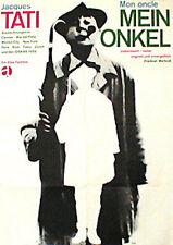MON ONCLE German A1 movie poster JACQUES TATI R66 BLASE Art