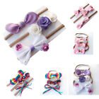 3PCS Cute Baby Kids Girls Toddler Infant Bow Headband Hair Band Headwear set