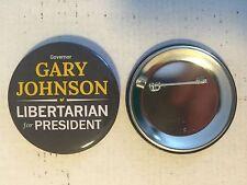 "Gary Johnson For President 2016 Libertarian Campaign Pin Pinback Button 2 1/2"""