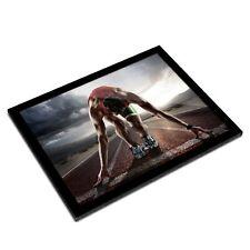A3 Glass Frame - Running Track Athlete Exercise Art Gift #14521