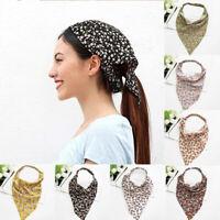 2PCS Women Floral Print Scrunchies Vintage Headband Scarf Elastic Hair Band New
