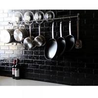 """47"""" Stainless Steel Wall Mount Pans Holder Storage Pot Pan Hanger Rack Organizer"""