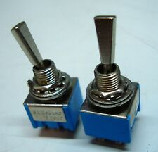 Toggle Switch Wide Chrome Baton Mini  SPDT DPDT various options!!!