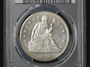 1841 SEATED DOLLAR PCGS AU DETAILS * MINOR TONING AROUND RIMS *