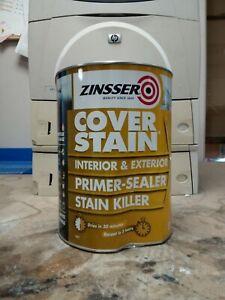 Zinsser Cover Stain® Primer Sealer Stain Block Stop Killer Interior/Exterior 5L