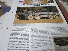 Archiv Militärfahrzeuge schwere Rad 7.1 10t Cargo truck M 977 Series HEMTT USA