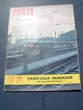 vie du rail 1959 683 inauguration PARIS LILLE wagons spéciaux EVS