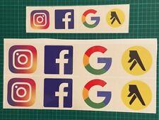 Facebook Instagram Yell Google Sticker Decal Cars/Office/Shops/ Vinyl Sticker