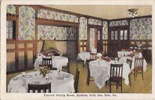 Postcard Peacock Dining Room Kahwa Park Inn Erie Pa