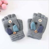 Unisex gloves half finger Children cute Gloves cartoon Winter Thicken Warm SALE