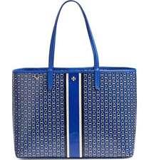TORY BURCH 'Gemini Link' Jewel Blue Stripe Tote Bag