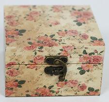 Vintage Floral Decorative Storage Box