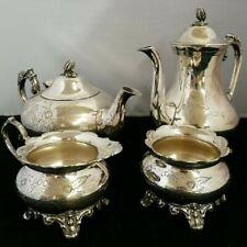 Vintage Silver Plated 4 Piece Ornate Tea Service
