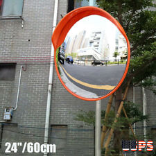 """24"""" Super Wide Angle Security Convex Mirror Outdoor Road Traffic Driveway Safety"""