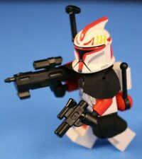 LEGO® STAR WARS™ Custom Minifigure Phase1 Red SHOCK TROOPER CLONE Captain Deluxe