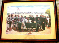 Irving Toddy Artwork,Original Signed Peace Treaty, Famed Navajo Artist,RareFrame