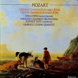 Mozart - Clarinet Concerto, K622, Clarinet Quintet, K581, Thea King - CD, VG