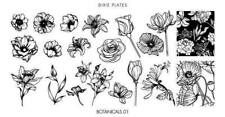 Dixie Plate Stamping Nail Art Accessories Botanicals 01 mini plate