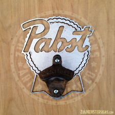 Metal Art Wall Mounted Pabst Beer Vintage Bottle Opener