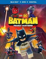 New Sealed Lego DC Batman Family Matters Blu-ray Disc + DVD + Digital