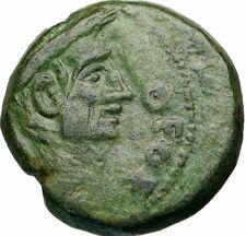 AUGUSTUS & Divus JULIUS CAESAR Portrait 28BC Thessalonica Roman Coin i84927