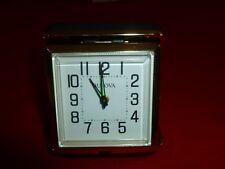 BULOVA TRAVEL ALARM CLOCK, Black Case