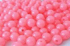 250 cuentas de plástico opaco color rosa pálido 8mm Ideal Para Hacer Pulseras AB0216