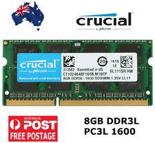 NEW! 8GB DDR3 Laptop RAM Crucial Notebook PC3L 12800S Memory NON-ECC SODIMM
