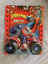 SpiderMan Bump & Go 4 Wheel  Action Figure, on original hanger 2002 Toybiz