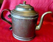 19th Century - Copper - Lidded Teapot - Handmade - Unusual Shape - L@@K!!