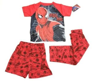 Spiderman Far From Home 3 Piece Pajama Set Size 3 Boys Marvel Tee Shorts/Pants
