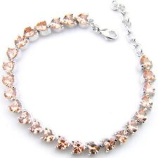 Cocktail Party Dynamic Jewelry Bright Morganite Gems Silver Charm Bracelets
