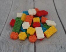 Lego Inspired cake decorations cake topper set 30 Brick Style Edible Sugarpaste