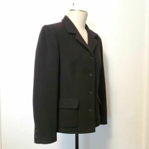 Nordstrom Womens Blazer Jacket Black 100% Wool Pockets Lined Size 12 Soft