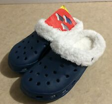 Erin's Womens Clogs Slip On with Removable Fur Lining New Size L 9 10 Shoes Blue