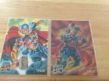 1995 Marvel Masterpieces Thor # 104-105 2 cards